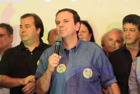 Eduardo Paes em lançamento da candidatura ao governo do Rio de Janeiro