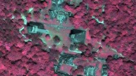 Imagens de satélite têm localizado monumentos maias pela decomposição do calcário