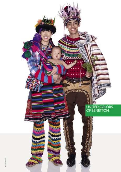 Outra imagem da campanha mais nova campanha de outono da Benetton