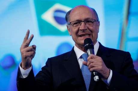 Pré-candidato do PSDB à Presidência, Geraldo Alckmin, participa de evento com prefeitos, em maio 23/05/2018 REUTERS/Adriano Machado