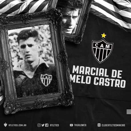 Atlético-MG se despede do ex-goleiro nas redes sociais (Reprodução)