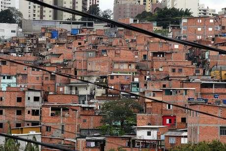 Visão geral de Paraisópolis, na Zona Sul de São Paulo