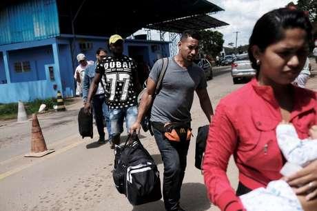 Venezuelanos chegam a Roraima  16/11/2017   REUTERS/Nacho Doce