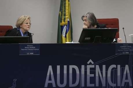 Ministras Rosa Weber e Cármen Lúcia