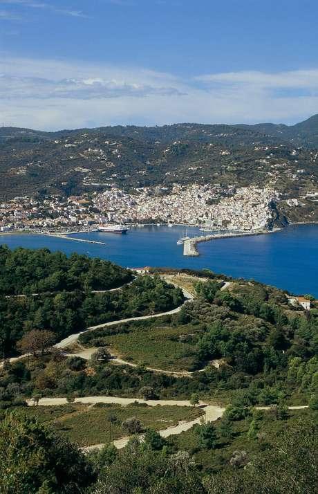 Ilha de Skopelos, na Grécia: ali foi gravadoMamma Mia!,de 2008