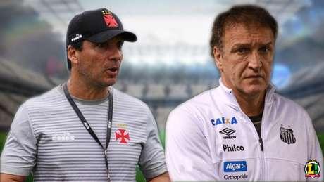 Zé está na iminência de acertar com o Bota, enquanto Cuca retornou ao Santos recentemente (Montagem: LANCE!)