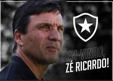 Zé Ricardo é o novo treinador do Botafogo (Foto: Reprodução)