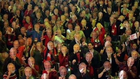 Para compensar a ausência física de Lula, o PT criou um evento totalmente voltado à figura do ex-presidente