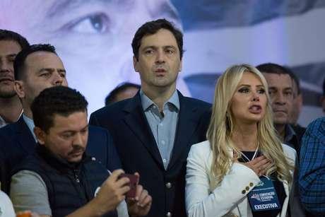 O príncipe Luiz Philippe durante a convenção estadual do PSL - Partido Social Liberal, em São Paulo (SP), neste domingo (5)