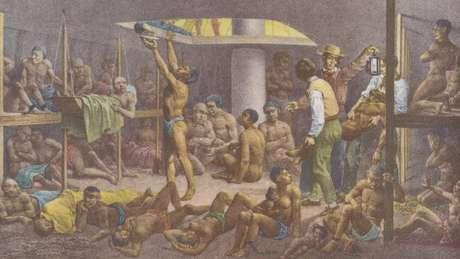4,8 milhões de africanos foram transportados para o Brasil e vendidos como escravos, ao longo de mais de três séculos. Outros 670 mil morreram no caminho.