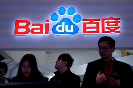 Símbolo da Baidu é visto durante a quarta World Internet Conference em Wuzhen, na provîncia de  Zhejiang, na China. 4/12/2017. REUTERS/Aly Song -