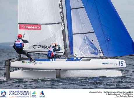 Samuel Albrecht e Gabriela Nicolino (Foto: Jesus Renedo/ Sailing Energy)