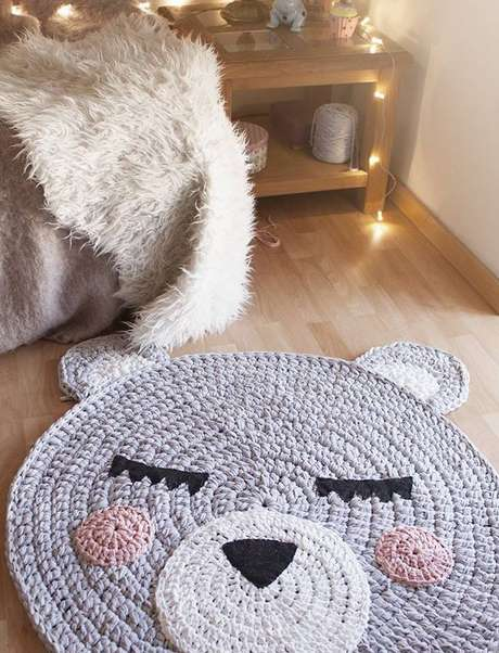 8..É possível criar figuras encantadoras^com tapetes de crochê
