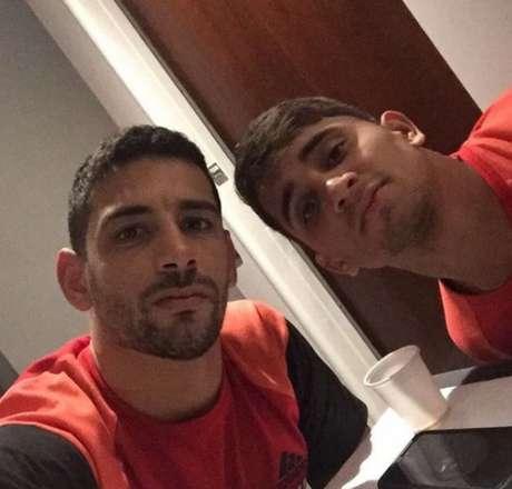 Diego Souza e Everton Felipe estavam sempre juntos no Sport - FOTO:Reprodução/Instagram