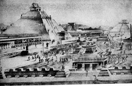 A capital dos astecas e sua grande pirâmide