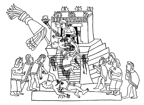 Na pirâmide do sacrifício humano