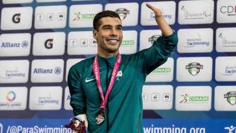 """Daniel Dias cumpriu """"meta"""" de medalhas dos filhos no Mundial de 2017 e se emocionou"""
