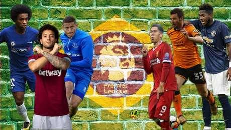 Os brasileiros tomam conta da Premier League (Arte: LANCE!)