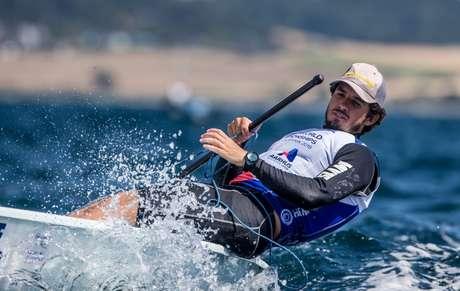 João Pedro de Oliveira garantiu vaga ao Brasil na Laser (Foto: Jesus Renedo/ Sailing Energy)