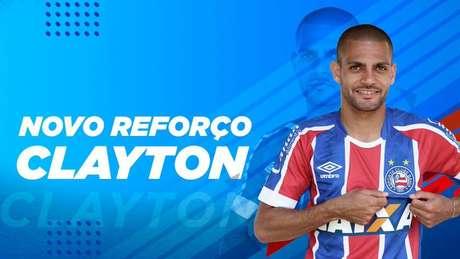 Emprestado pelo Atlético-MG, Clayton é oficializado como reforço do Bahia