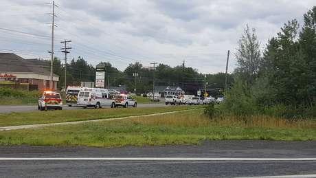 Veículos de emergência em Fredericton 10/08/2018 Kev Bourque/via Reuters