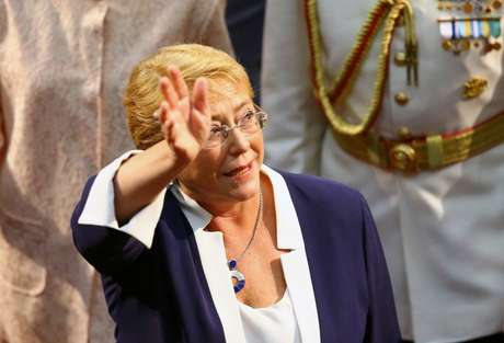 Michelle Bachelet durante cerimônia no Congresso do Chile 11/03/2018 REUTERS/ Ivan Alvarado