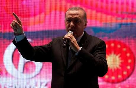 Erdogan, em evento em Istambul 15/7/2018 REUTERS/Murad Sezer