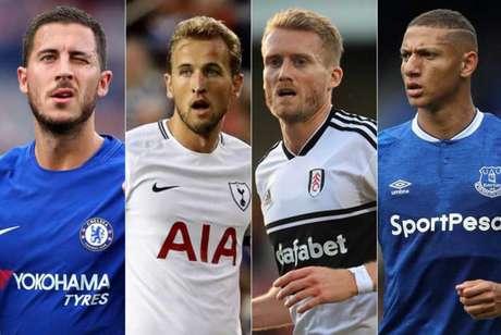 Chelsea, Everton, Fulham e Tottenham jogam neste sábado (Foto: Reprodução)