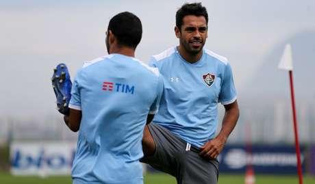 Junior Sornoza e Junior Dutra treinaram com o elenco nesta sexta-feira (Foto: Divulgação/Fluminense)
