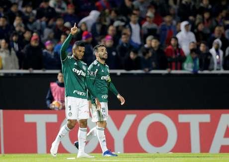 Borja comemora gol pelo Palmeiras