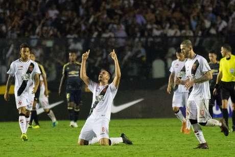 Thiago Galhardo marcou o gol da vitória do Vasco