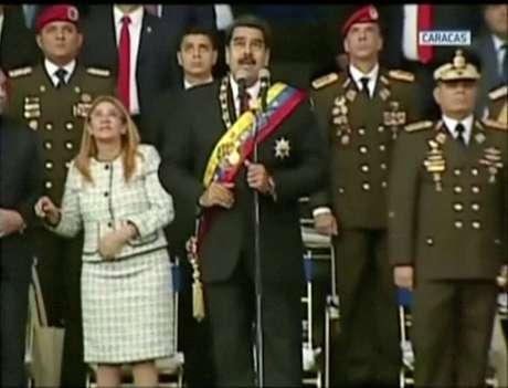 Discurso de Maduro é interrompido na Venezuela; governo denuncia ataque com drones