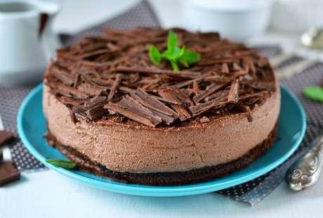 Torta de chocolate com menta