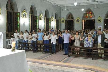 Missa em homenagem ao ex-governador de Pernambuco, Eduardo Campos, na Igreja Matriz de Casa Forte, na zona norte do Recife