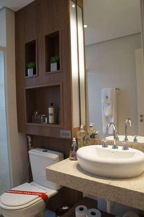 19. Modelos de nicho para banheiro de madeira