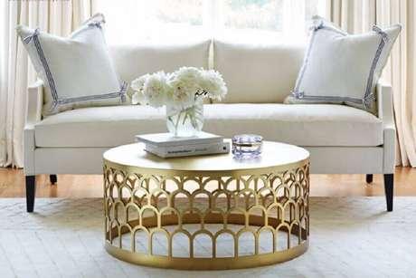 60. Alguns modelos de mesa de centro redonda são super sofisticadas – Foto: Home Inspiration Ideas
