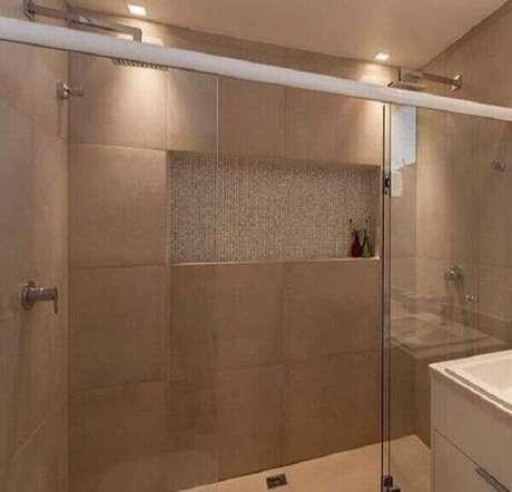 58- Nicho para banheiro em parede de box. Fonte: Pinterest