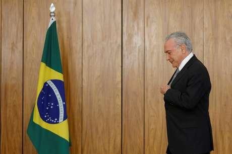 Presidente Michel Temer durante cerimônia no Palácio do Planalto 25/04/ 2018. REUTERS/Adriano Machado