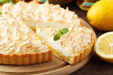 Torta de limão feita com uma das massas doces