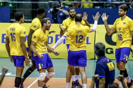 Seleção masculina de Vôlei vence a Holanda no primeiro amistoso (Foto: Wander Roberto/Inovafoto/CBV)