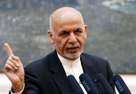 Presidente afegão, Ashraf Ghani, em Cabul 15/07/2018 REUTERS/Mohammad Ismail