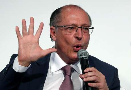 Alckmin fala em evento em São Paulo  20/8/2018   REUTERS/Paulo Whitaker