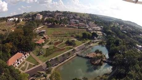 Imagem aérea de Águas de Santa Bárbara