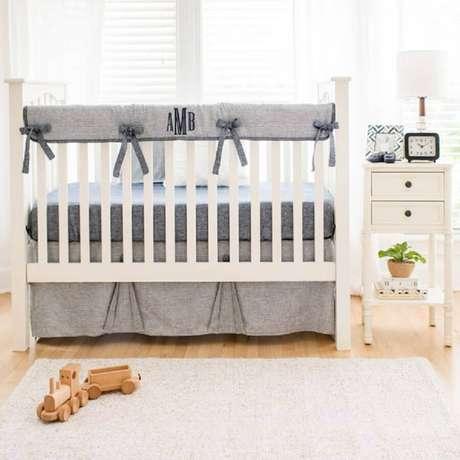 32. Decoração para quarto de bebê masculino simples – Foto Pinterest