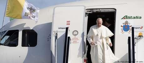 Francisco chegou a Dublin neste sábado para participar do Encontro das Famílias