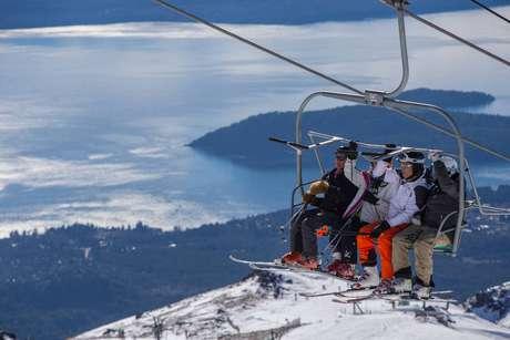 Vista do teleférico em Cerro Catedral, Bariloche