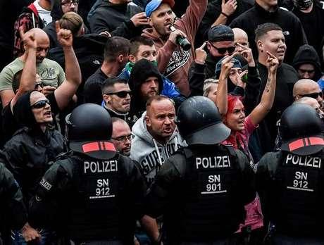 Protesto da extrema direita em Chemnitz, Alemanha
