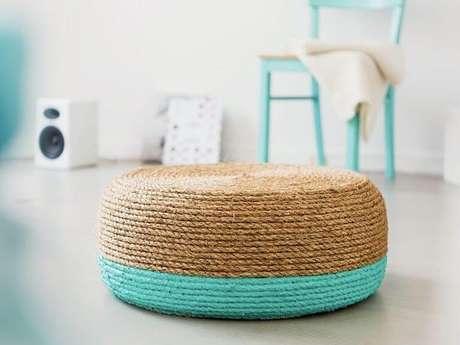 1. Você pode ter um puff de pneus que combine perfeitamente com a sua decoração. Foto de Dawanda