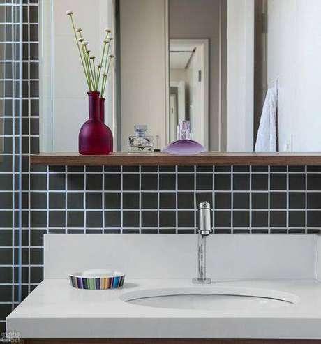 10.Os detalhes são peças essenciais para os banheiros modernos
