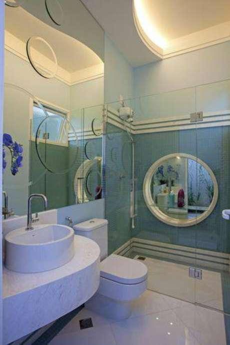 11. Investir em um design único é tendência em banheiros modernos